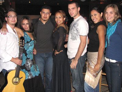 The younger generation of DC flamencos: guitarist Mateo Romero, dancer Ginette, singer Hector Marquez, dancer Isabelita, singer Naito, singer Marylin Marquez and dancer Sarah Hart