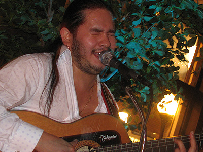 Singer/guitarist Jose Oretea at La Tasca in Old Town