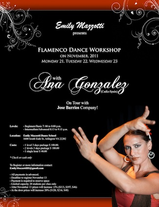 Ana Gonzalez Flamenco Dance Workshop