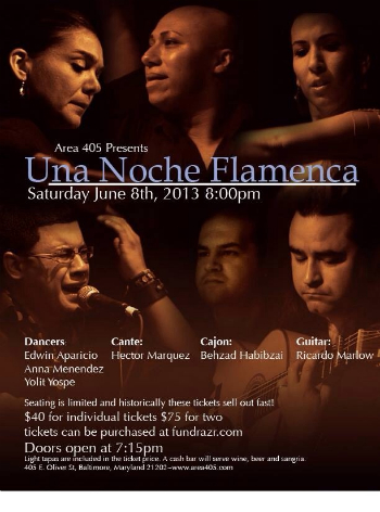 Una Noche Flamenca at Area 405 in Baltimore