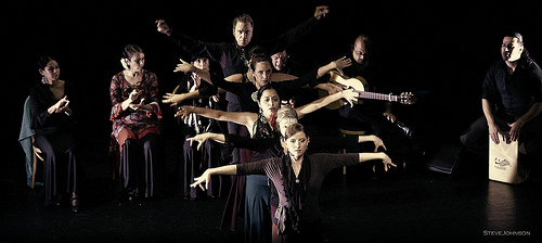 Arte Flamenco dancers (front to back): Fran, Terrie, Yanira, Emily, Rebecca and Mark
