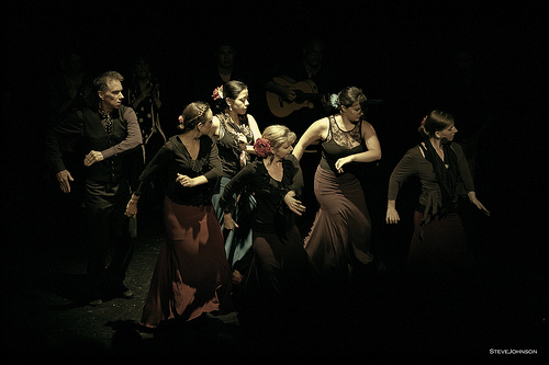 Arte Flamenco dancers (left to right): Mark, Emily, Yanira, Rebecca and Fran