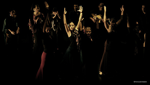 Arte Flamenco dancers (left to right): Mark, Emily, Yanira, Terrie, Rebecca and Fran
