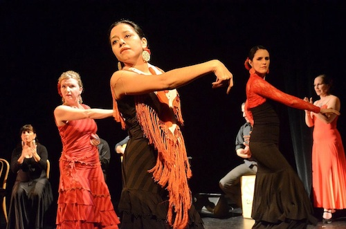 Arte Flamenco dancers (left to right): Terrie, Yanira and Carol