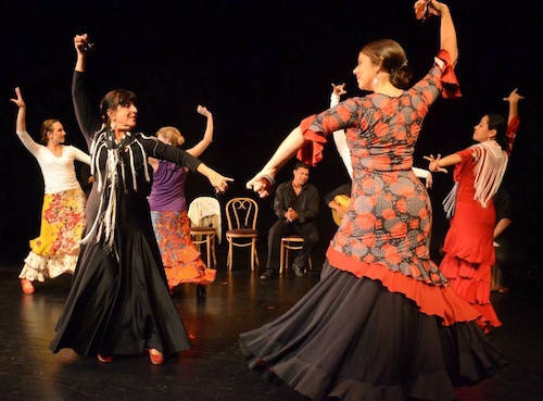Arte Flamenco dancers (left to right): Emily, Natalia, Terrie, Claudia and Yanira
