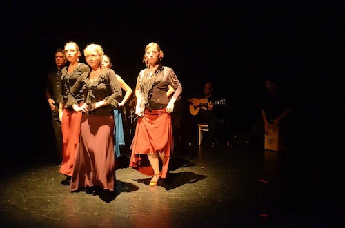 Arte Flamenco dancers (left to right): Mark, Emily, Terrie, Yanira, Rebecca and Fran