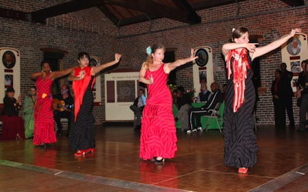 Arte Flamenco dancers Natasha, Yanira, Terrie and Francisca at the Frederick Douglass Museum in Baltimore