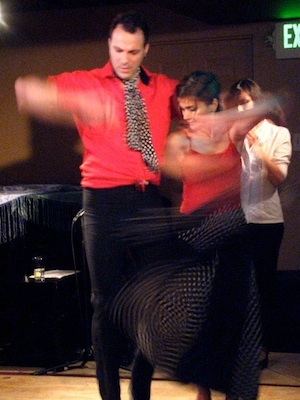 Flamenco dancers Vathec and Salma Salman at Black Fox Lounge