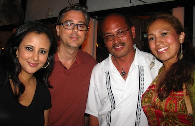 Isabel's friend Mona, my guitarist friend Steve, me and flamenco dancer Isabel