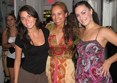 Carla with flamenco dancers Isabel and Sara