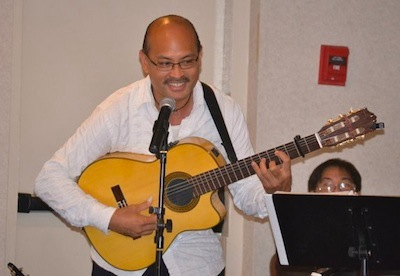 That's me, Miguelito, tuning up and introducing myself and my guest flamenco dancer at my Dad's birthday in Los Angeles