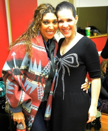 Flamenco singer Esperanza Fernandez and Furia Flamenca director Estela Velez at Born 2 Dance studio in Vienna, Virginia