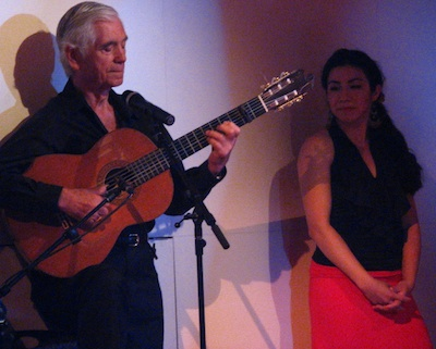 Torcuato playing a rumba guitar solo