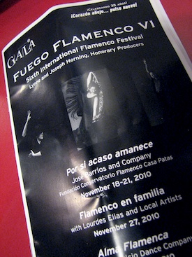 Gala Theatre program for Fuego Flamenco VI festival