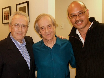 Paco de Malaga, Paco Pena and Miguelito backstage at Lisner Auditorium