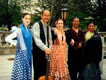 Flashback to the Multicultural Fair in 1996: that's me and dancer Edwin Aparicio with the DC-based group Sol y Sombra