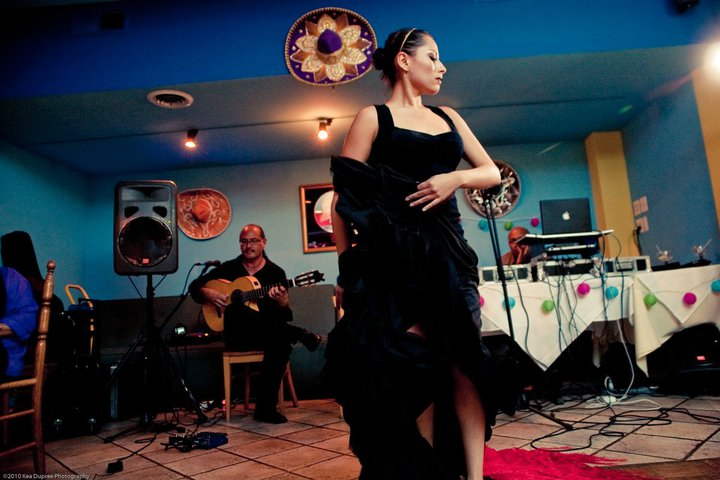 Flamenco dancer Ginette