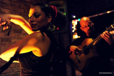 Flamenco dancer Ginette with guitarist Miguelito at Plaza del Sol in Bethesda