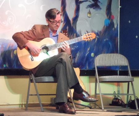 Guitarist Steve Svoboda opening the show.