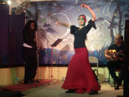 Singer AVIANA with flamenco dancer Pam de Ocampo and guitarist Miguelito