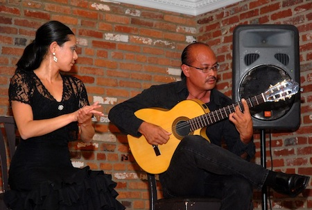 Flamenco dancer Pam de Ocampo with guitarist Miguelito