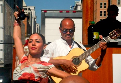 Flamenco dancer Marsha Bonet-Savchenko and guitarist Miguelito at Taste of DC
