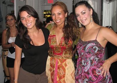 Carla with flamenco dancers Isabel and Sara