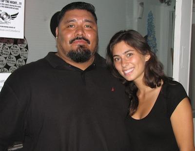 Cafe Citron bouncer Carlos with hostess Carla