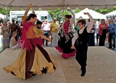 Students of Ana Martinez dancing Sevillanas